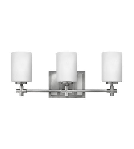 Hinkley 3 Light Laurel Vanity in Brushed Nickel 57553BN