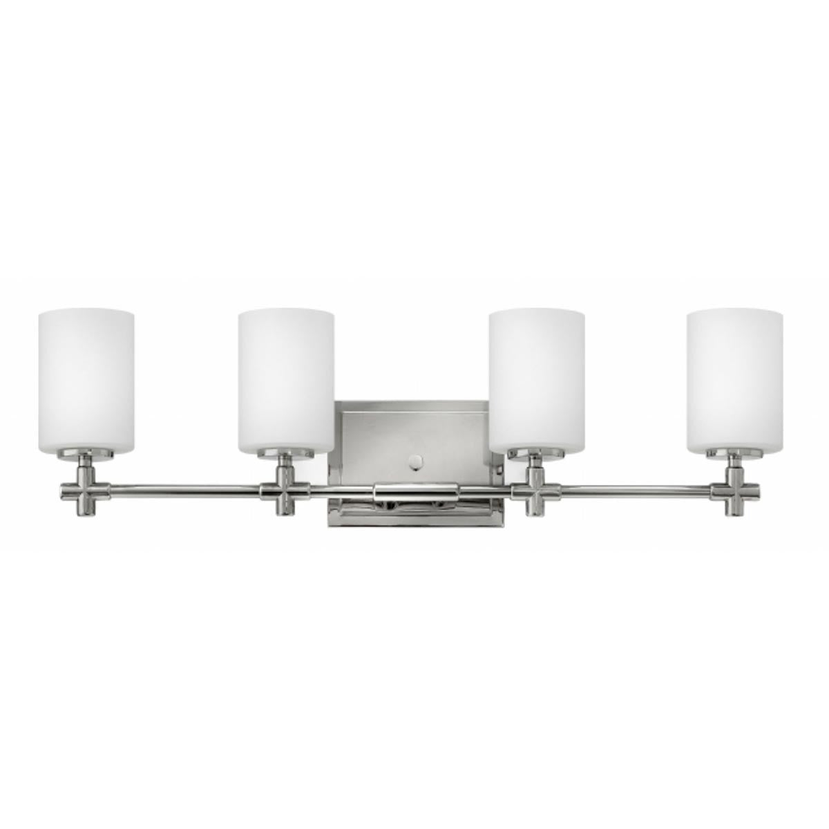 Hinkley 4 Light Laurel Vanity in Polished Nickel 57553PN