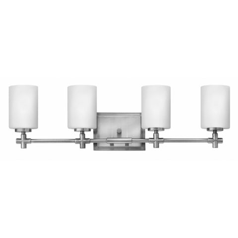 Hinkley 4 Light Laurel Vanity in Brushed Nickel 57554BN