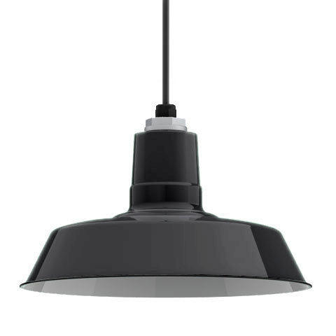 Ivanhoe Sky Chief Porcelain Pendant in Black by Barn Light