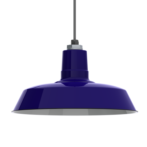 Ivanhoe Sky Chief Porcelain Pendant in Cobalt Blue by Barn Light