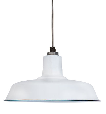Ivanhoe Sky Chief Porcelain Pendant in White by Barn Light