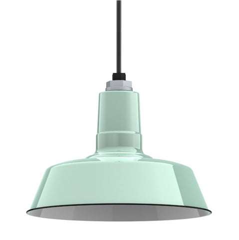 Ivanhoe Sky Chief Porcelain Pendant in Jadite by Barn Light