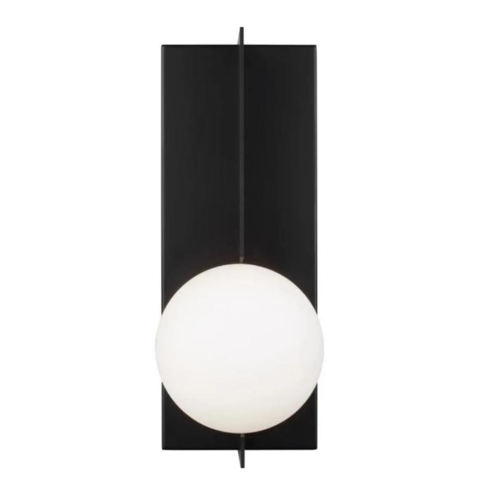 Orbel Wall Sconce, 1-Light Wall Sconce, Matte Black