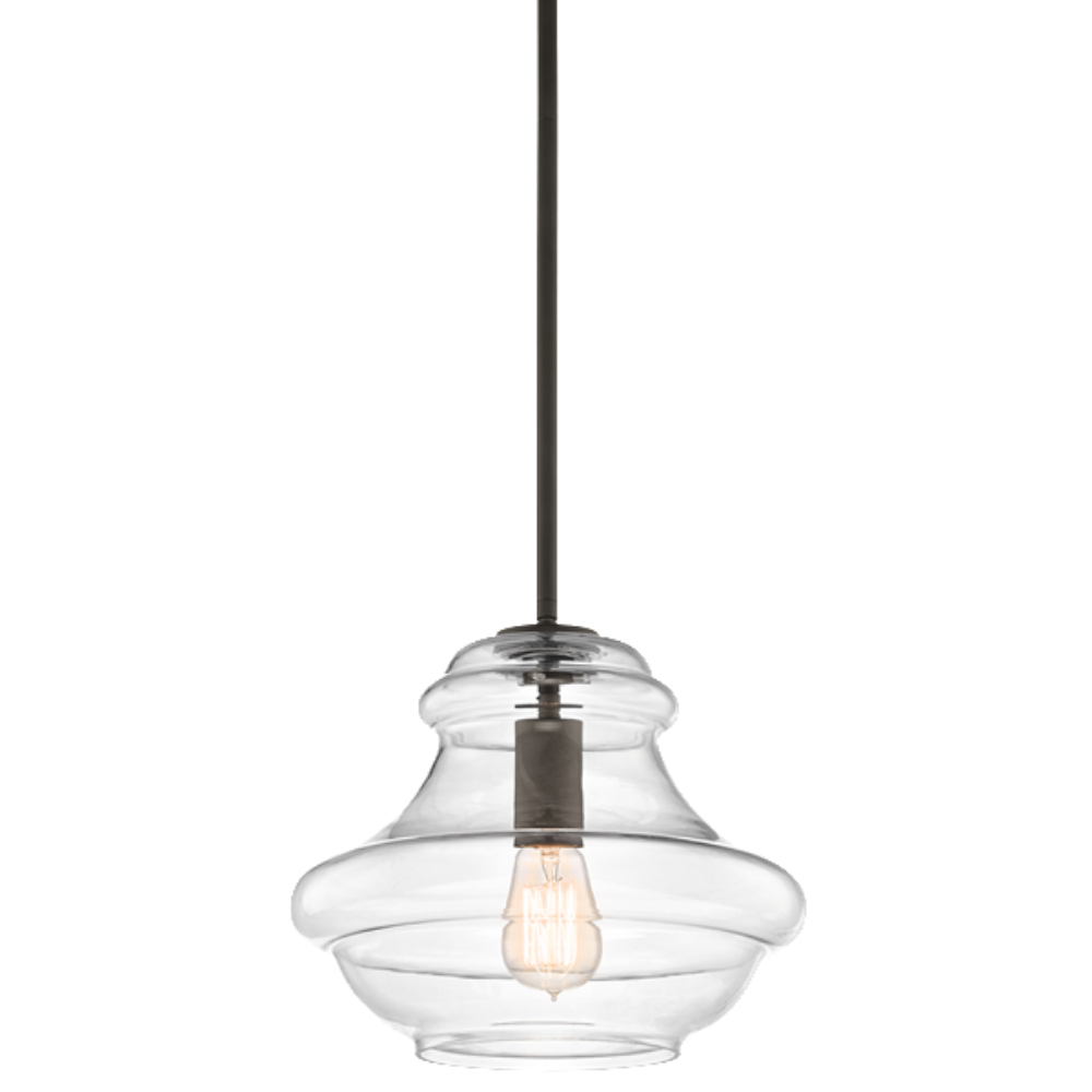 1 Light Everly Pendant in Olde Bronze with clear glass by Kichler 42044OZ