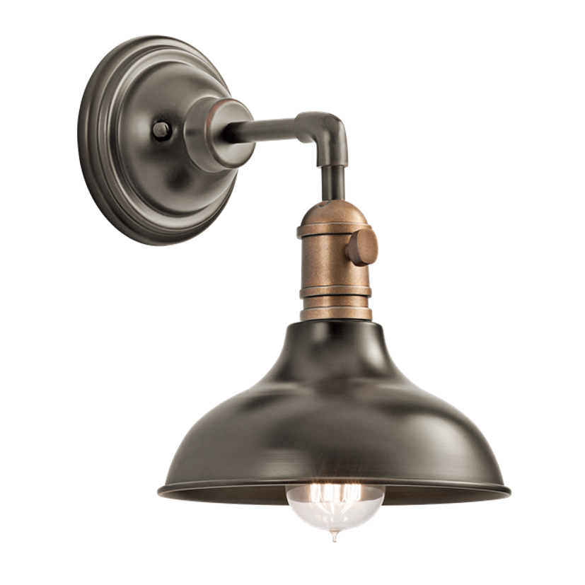 1 Light Cobson Wall Sconce in Olde Bronze, by Kichler. 42579OZ