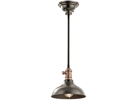 1 Light Small Cobson Pendant in Olde Bronze by Kichler 42579OZ