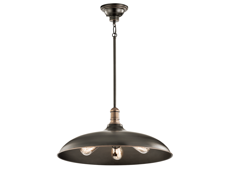 3 Light Large Cobson Pendant in Olde Bronze by Kichler  42649OZ