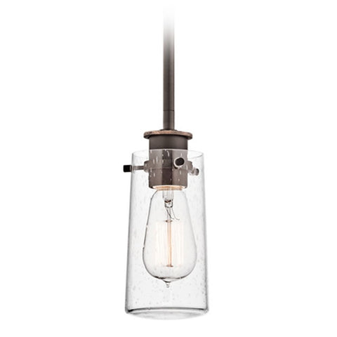 Braelyn Pendant with Clear Seeded Glass and Auburn Stained Finish by Kichler 43060OZ