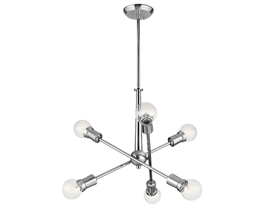 Armstrong 6 Light Chandelier in Chrome by Kichler Lighting 43095CH