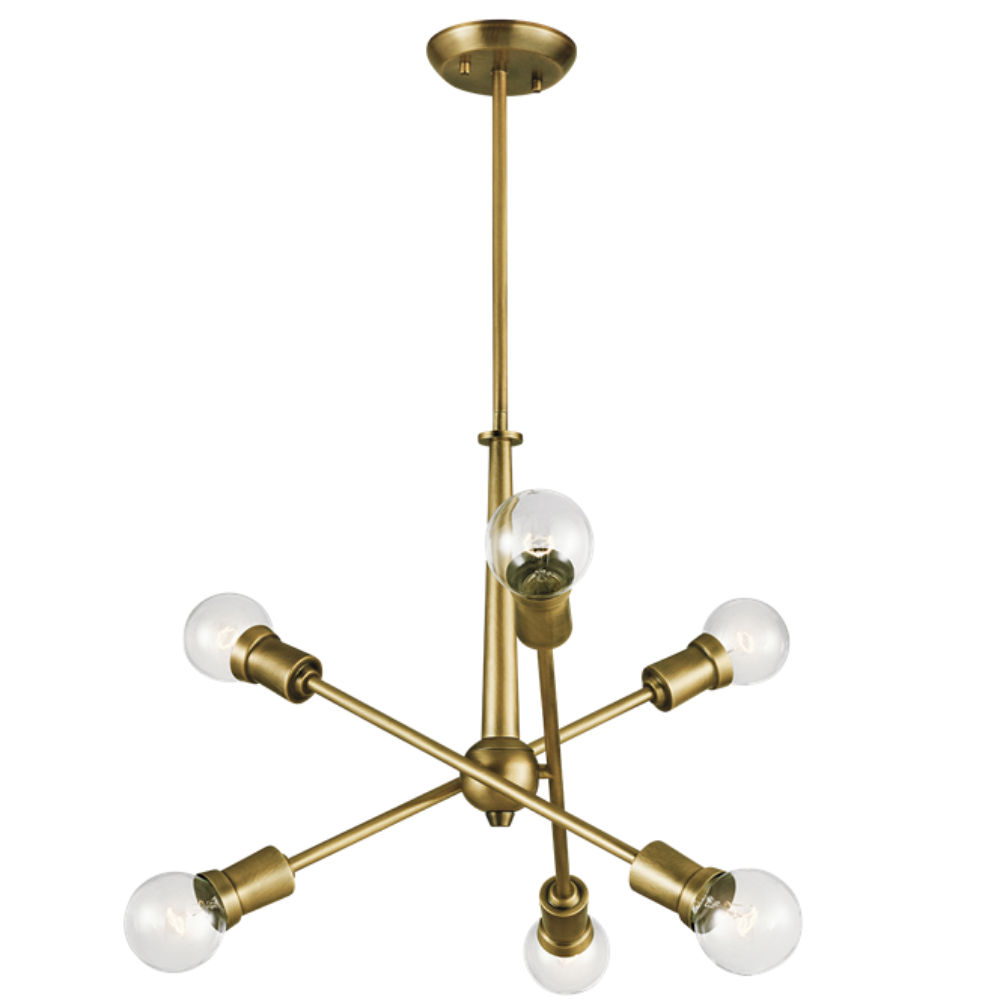 Armstrong 6 Light Chandelier in Natural Brass by Kichler Lighting 43095NBR