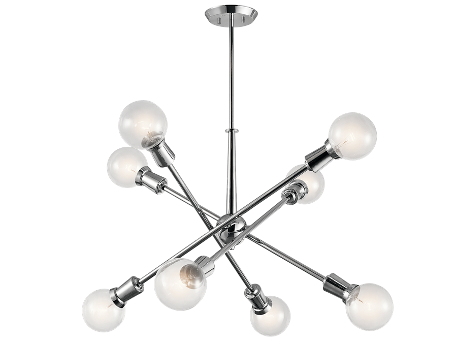 Armstrong Chandelier in Chrome by Kichler, 43118CH