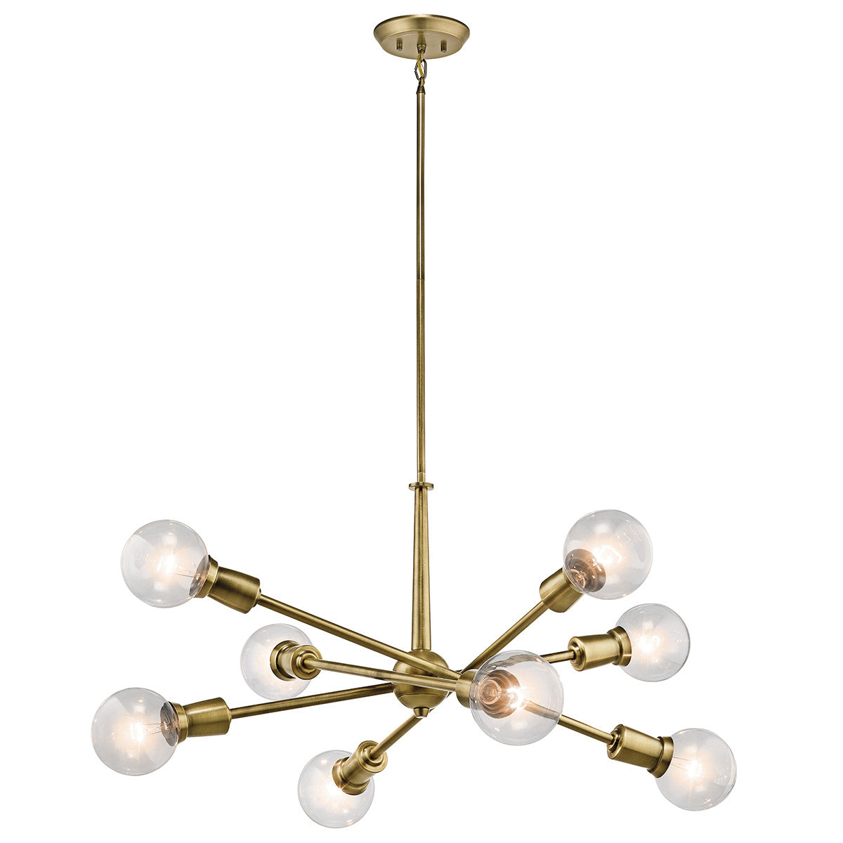 Armstrong Chandelier in Natural Brass by Kichler 43118NBR