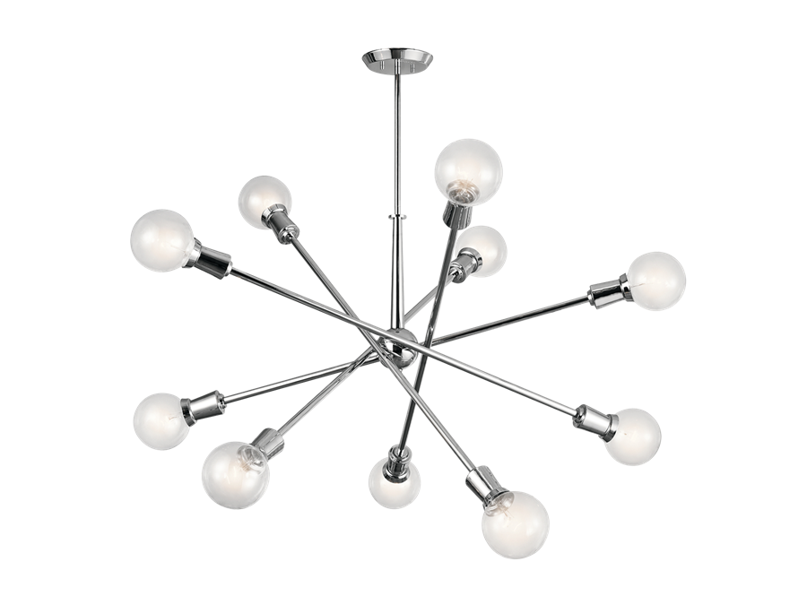 Armstrong Chandelier in Chrome by Kichler, 43119CH