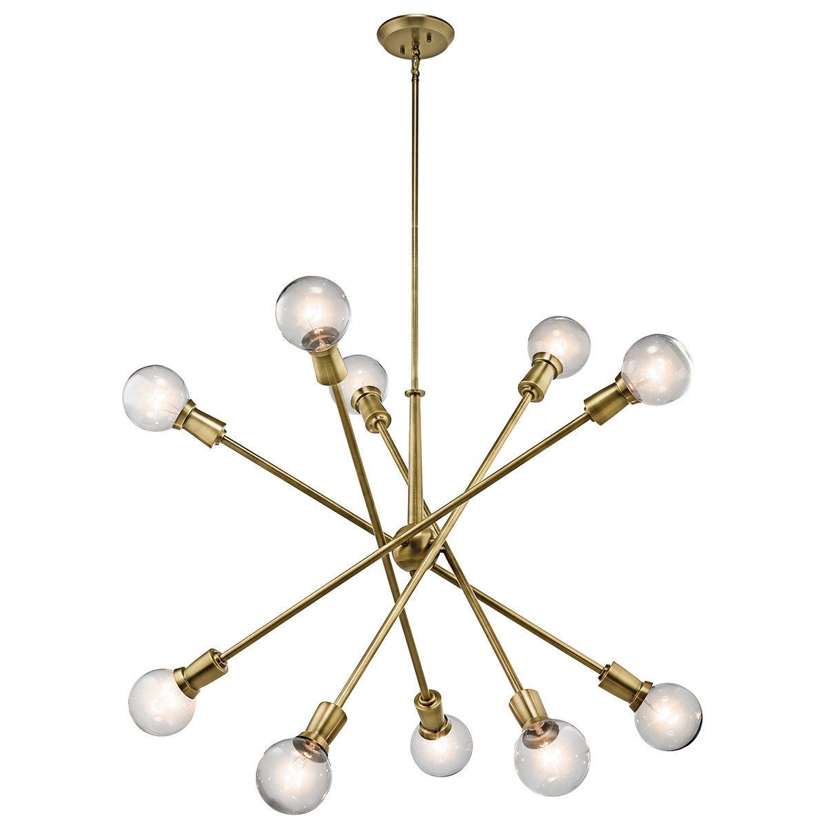 Armstrong Chandelier in Natural Brass by Kichler, 43119NBR