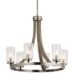 6 Light Grand Bank Chandelier in Distressed Antique Gray by Kichler 43193DAG