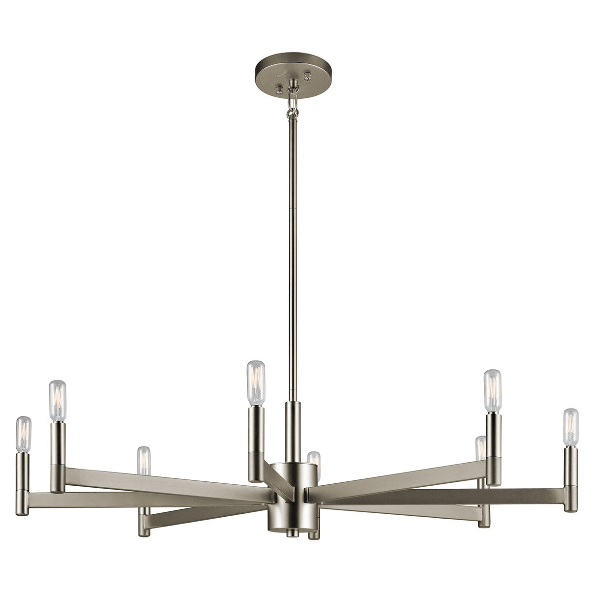 Erzo Chandelier by Kichler in Satin Nickel 43857SN