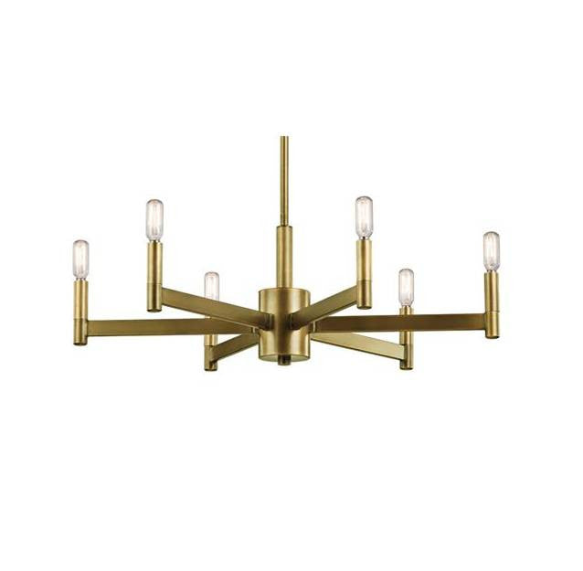 Erzo Chandelier by Kichler in Natural Brass 43859NBR
