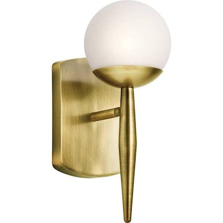 Jasper Sconce in Natural Brass by Kichler Lighting ( 45580NBR) | Lighting Connection