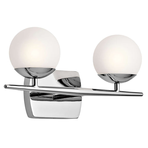 Jasper Vanity 2 Light in Chrome by Kichler Lighting ( 45581CH) | Lighting Connection