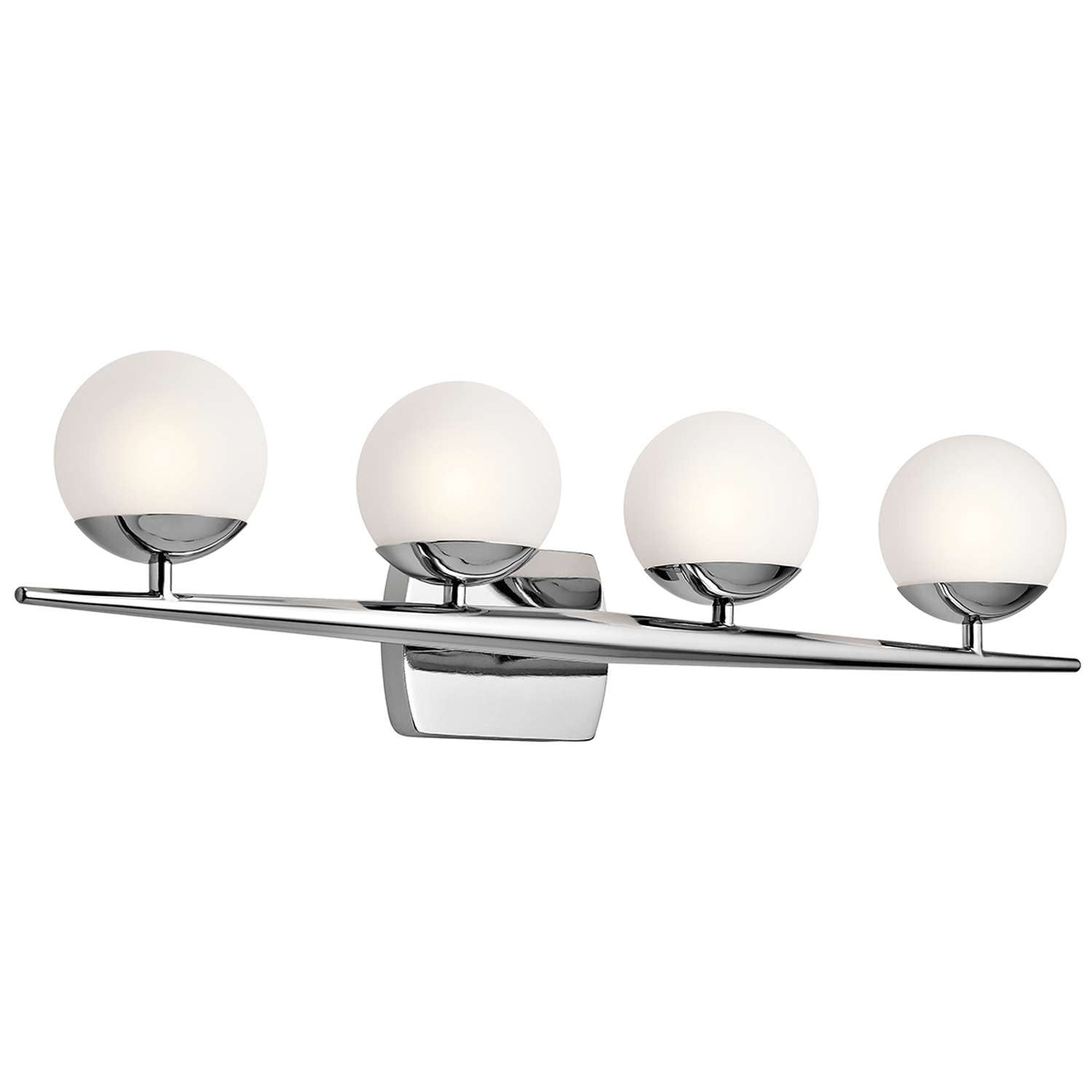 Jasper Vanity 4 Light in Chrome by Kichler Lighting ( 45583CH) | Lighting Connection