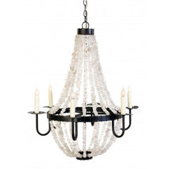 Small Crystal Empire Chandelier in Darkened Bronze by Low Country Originals,  LCO-001
