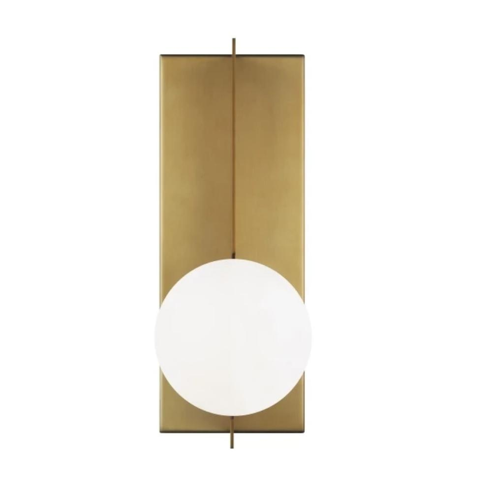 Orbel Wall Sconce, 1-Light Wall Sconce, Aged Brass
