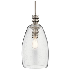 Lakum Pendant by Kichler in Classic Pewter with Clear Seedy Glass 43090CLP