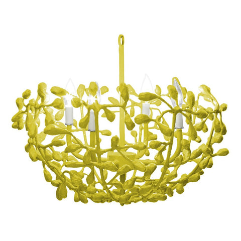 Landon Chandelier in Chartreuse finish, by Stray Dog Designs, Landon_Chartreuse