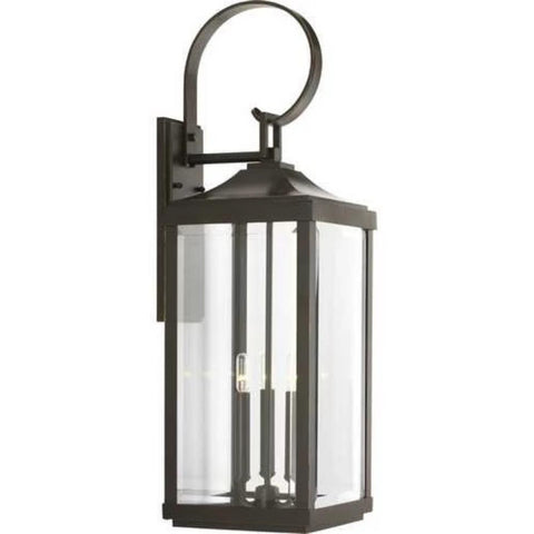Gibbes Outdoor Wall Lantern, 3-Light Lantern, Antique Bronze