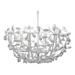 Landon Chandelier in White Finish, by Stray Dog Designs, Landon_White