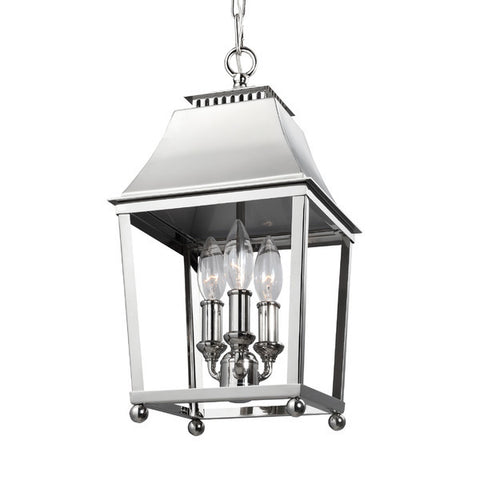 3 Light Galloway Pendant in Polished Nickel by Feiss F3088/3PN