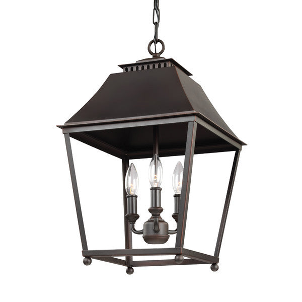 3 Light Galloway Pendant in Dark Antique Copper by Feiss F3089/3DAC/AC