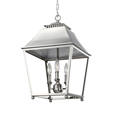 3 Light Galloway Pendant in Polished Nickel by Feiss F3089/3PN