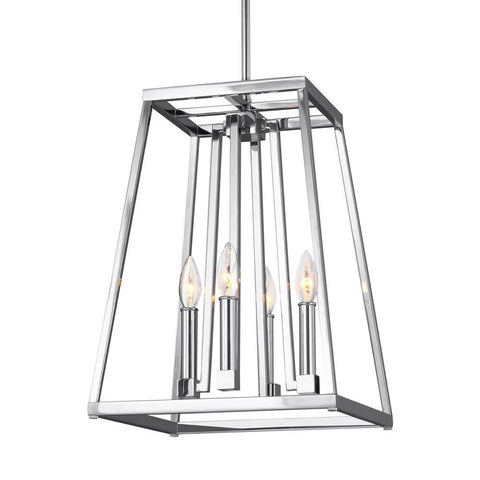 4 Light Conant Lantern Pendant in Chrome by Feiss F3149/4CH