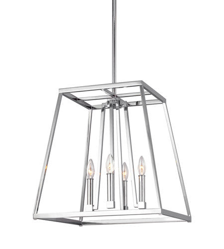 Small 4 Light Conant Chandelier in Chrome by Feiss F3150/4CH