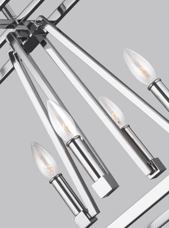 Conant Linear Chandelier in Chrome, by Feiss, F3152/8CH
