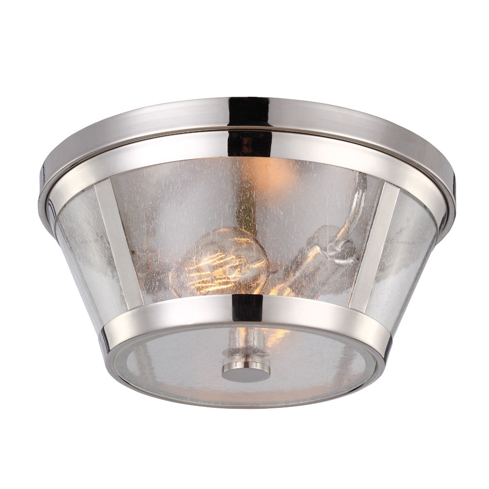 Harrow Flush Mount in Polished Nickel by Feiss FM393PN