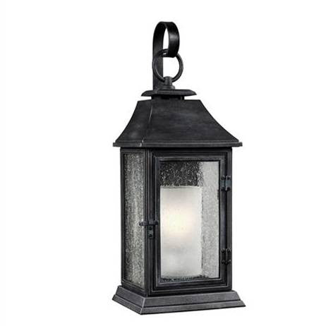 Shepherd Outdoor Sconce by Feiss in Dark Weathered Zinc OL10602DWZ