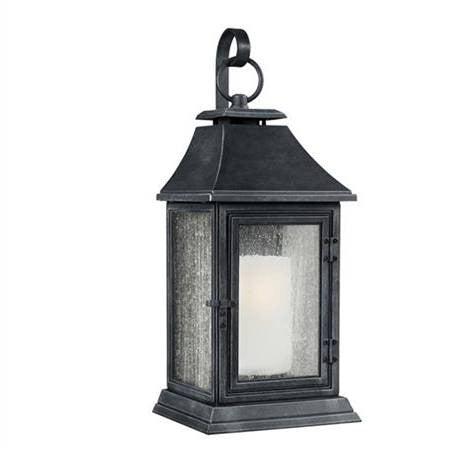 Shepherd Outdoor Sconce by Feiss in Dark Weathered Zinc OL10603DWZ