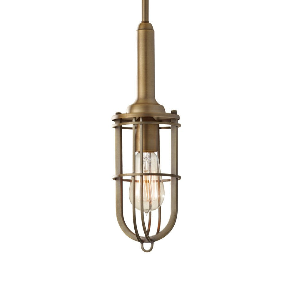 Urban Renewal Pendant in Antique Brass by Feiss P1240DAB