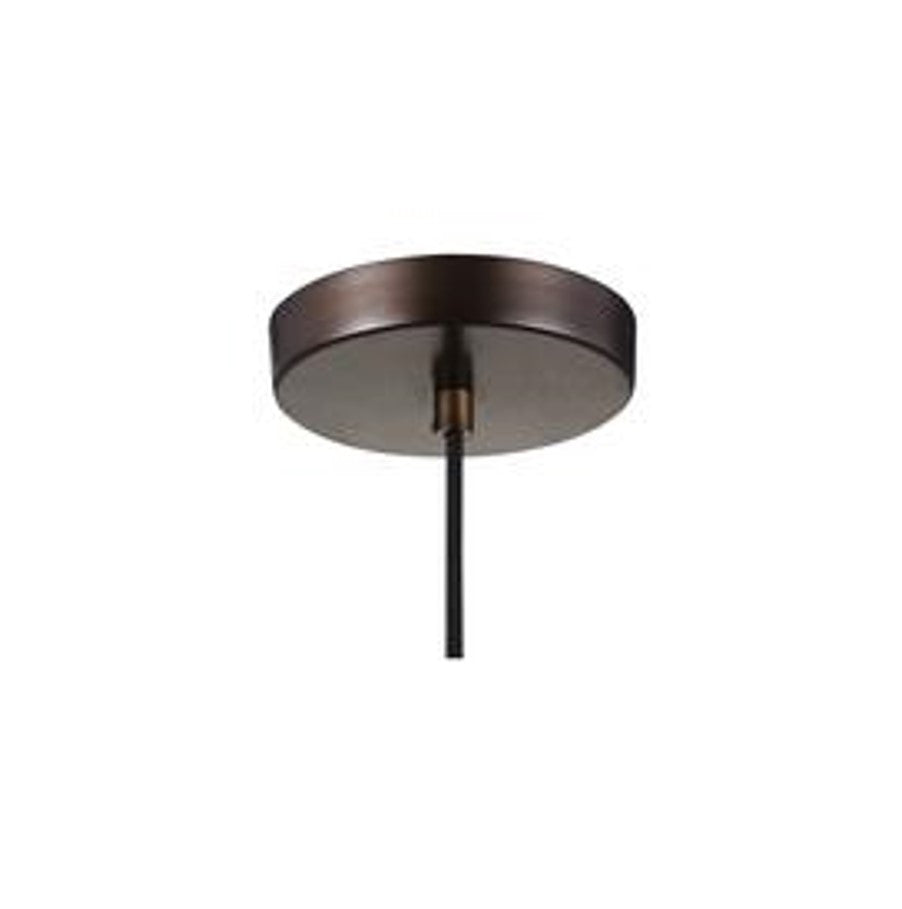 Baskin Pendant in Painted Aged Brass with a Dark Weathered Zinc Finish by Murray Feiss,  P1347PAGB/DWZ