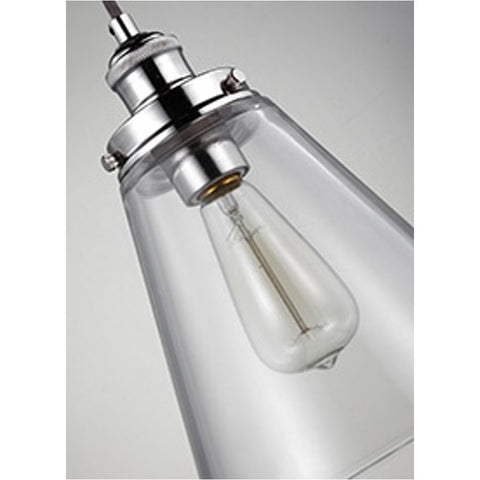 Baskin Pendant in Polished Nickel by Murray Feiss,  P1347PN