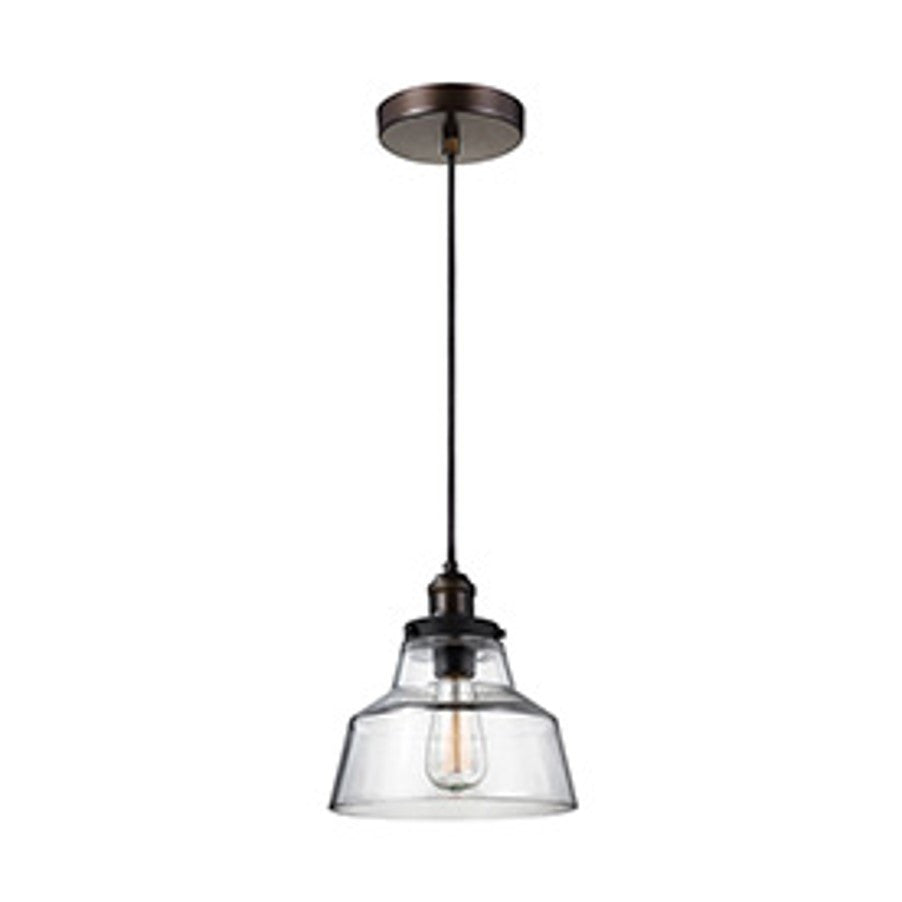 Baskin Pendant in Painted Aged Brass with a Dark Weathered Zinc Finish by Murray Feiss,  P1348PAGB/DWZ