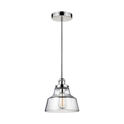Baskin Pendant in Polished Nickel by Murray Feiss,  P1348PN