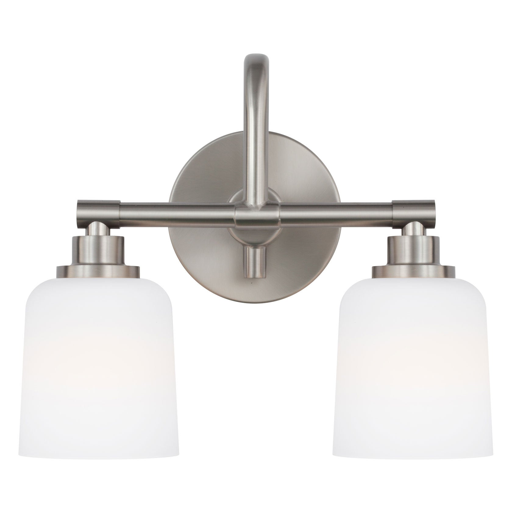 Feiss 2 Light Reiser Vanity Light in Satin Nickel VS23902SN