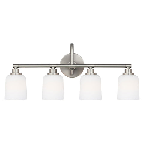 Feiss 4 Light Reiser Vanity Light in Satin Nickel VS23902SN