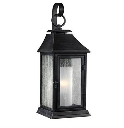 Shepherd Outdoor Sconce by Feiss in Dark Weathered Zinc OL10600DWZ