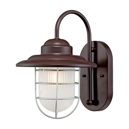 Outdoor Nautical Coastal Wall Sconce in Architectural Bronze by Millennium Lighting 5390ABR