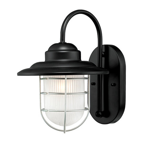 Outdoor Nautical Coastal Wall Sconce with Satin Black Finish by Millennium Lighting 5390SB